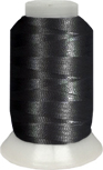 ThreaDelight Polyester Embroidery Thread Black   60 WT