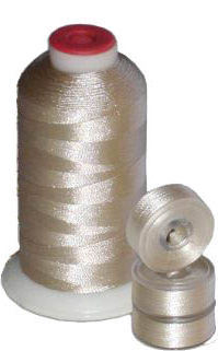 Matching 72 L Bobbins & 10 Thread - Champagne