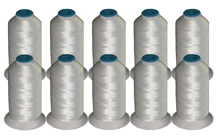 10 Cones Rayon Thread Kit -  WHITE 40wt