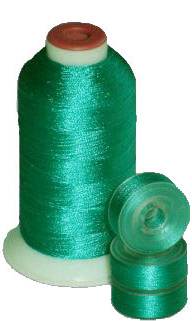 Matching 72 L Bobbins & 10 Thread - Emerald Green