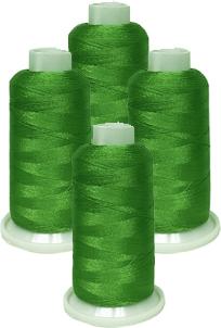 ThreaDelight Polyester 4 Spools Green Spring 40WT