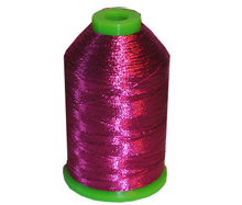 Metallic Embroidery Thread One Cone - Fuchsia