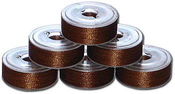 72 L Pre-Wound Plastic Sided Bobbins - Brown LT (P876)