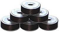 72 L Pre-Wound Plastic Sided Bobbins - Coffee Brown DK (P880)