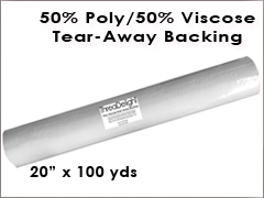 Tear-Away Poly/Viscose - 20 inch x 100 yards