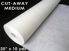 "Cutaway Embroidery Stabilizer - Medium Weight - 20"" x 10 yards"