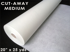 "Cutaway Embroidery Stabilizer - Medium Weight - 20"" x 25 yards"