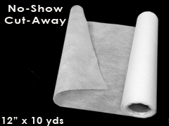 "No-Show Mesh Cutaway Embroidery Stabilizer 12"" x 12yds"