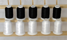 Bobbin Thread Kit 10 cones - 5 White & 5 Black