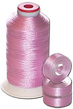 Matching Bobbins & Thread - Pink Plum LT Color
