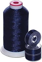 Matching Bobbins & Thread - Blueberry Blue Color