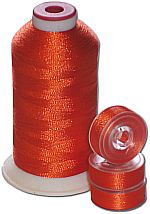 Matching Bobbins & Thread - Bright Orange Color