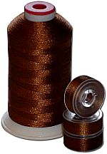 Matching Bobbins & Thread - Brown LT Color