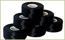 144 ThreaDelight Prewound Sideless bobbins BLACK