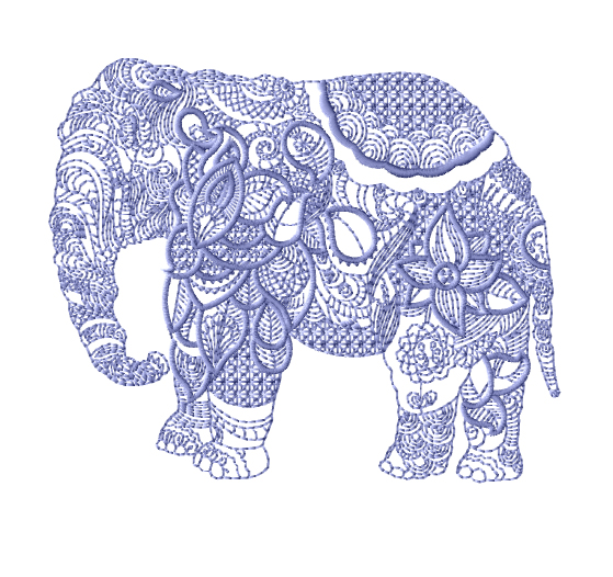 machine embroidery elephant designs