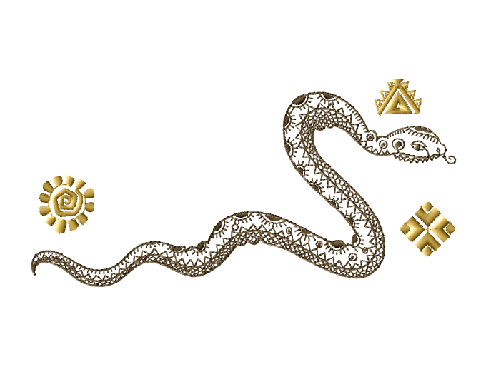 Snake Embroidery Designs