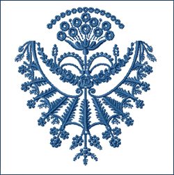 Floral Pendant embroidery design