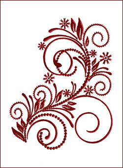 Flourish Curls 2 embroidery design