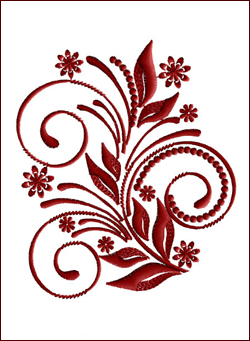Flourish Curls 3 embroidery design