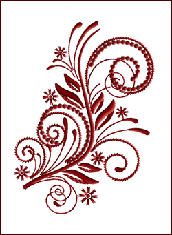 Flourish Curls 5 embroidery design