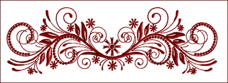 Flourish Curls 6 embroidery design