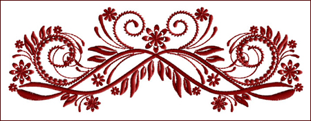 Flourish Curls 7 embroidery design