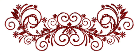 Flourish Curls 8 embroidery design