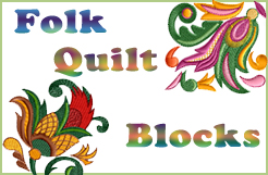 Folk Quilt Blocks Embroidery Designs Set