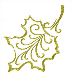 Leaf 11 embroidery design