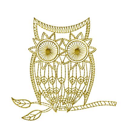 Abc Designs Golden Owls Machine Embroidery Designs Set 4