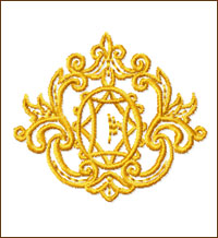 Medallion embroidery design
