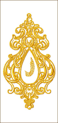 The Pendant embroidery design