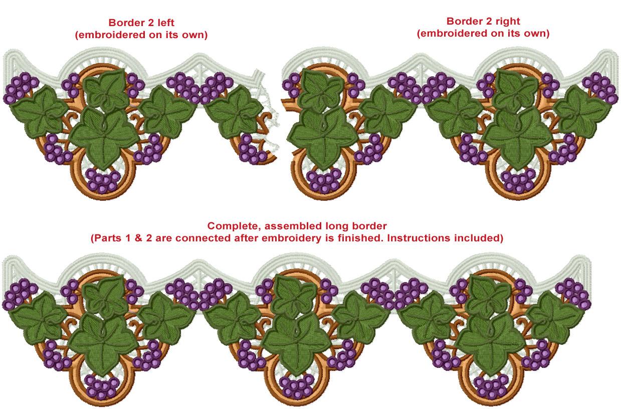 Border 2 Border 2 Embroidery Design