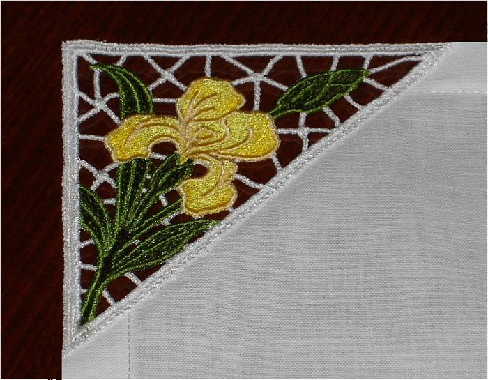 Stand Alone Embroidery Designs : Iris lace free standing embroidery design lace from abc