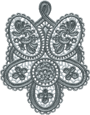 Irish Lace TieFree Standing Embroidery Design