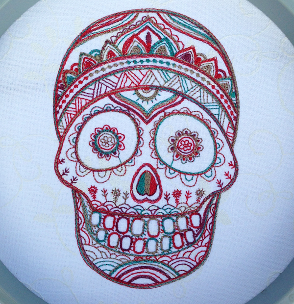 Mexican Day of the Dead Mask Embroidery Designs
