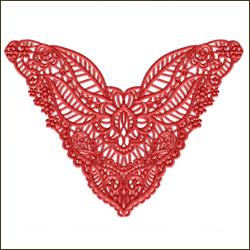Neckline Lace Butterfly
