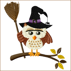 Owl with Broom