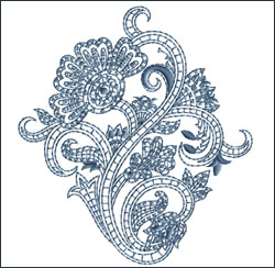 Motif 6 embroidery design