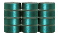 72 L Pre-Wound Plastic Sided Bobbins - Emerald
