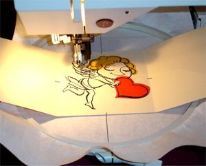 Making Embroidered Valentine Postcard from Regular Card Stock