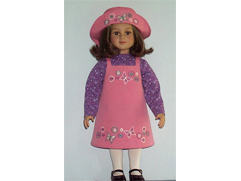 Doll's Dress and Hat with Butterflies Machine Embroidery Designs