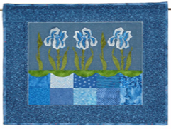 Project Idea with Iris Blossoms Embroidery Designs