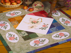 Project Idea with  Roses Allure Embroidery Designs