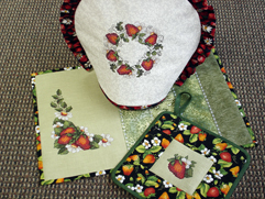 Project Idea with Strawberries Flavor Embroidery Designs