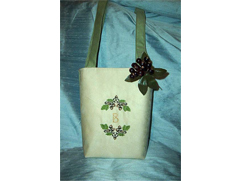 Stylish Fall Tote with Decorative Ornaments