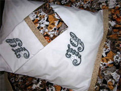 Amazing Three Seam Pillow Cases with Venice Initials