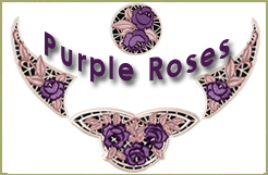 Purple Roses Lace