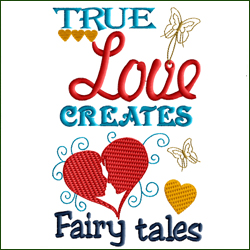 True Love Creates Fairy Tales - Quotes For Reading Pillows and More