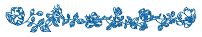 Redwork border embroidery design